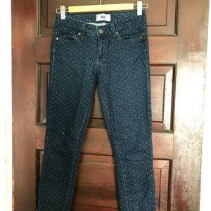 Paige jeans polka dot jeans size 24